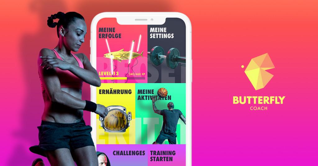Teste die Butterfly Coach App - dein persönlicher Coach für dein Workout und dein Leben